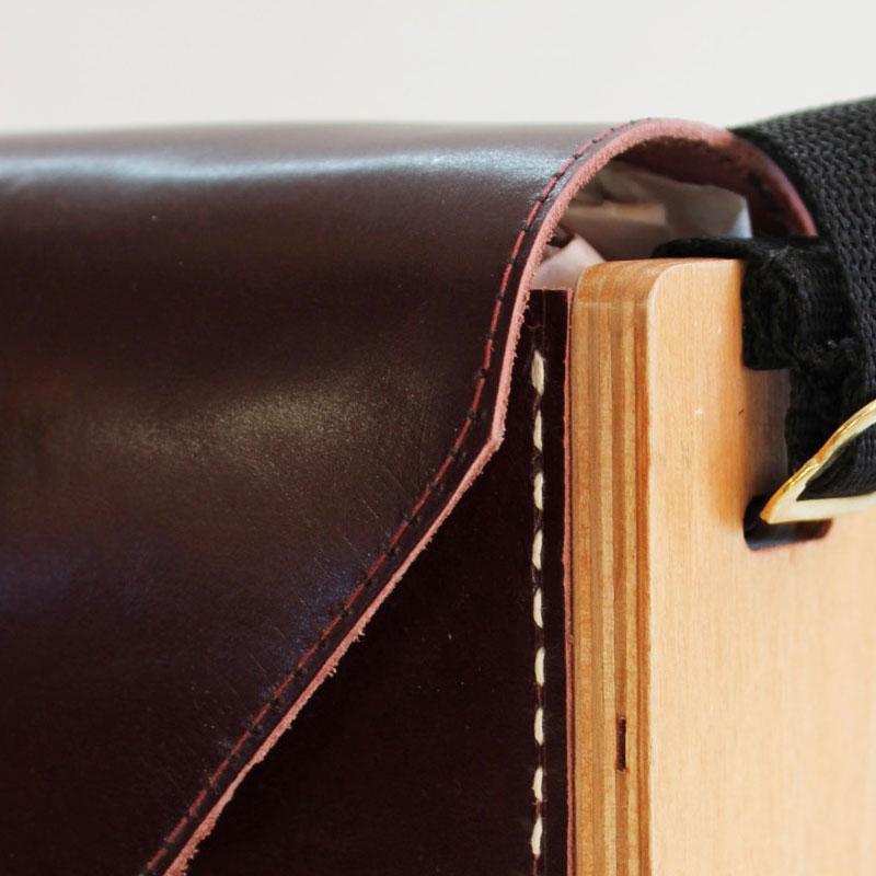 sac bois et cuir